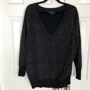 Lane Bryant Multi-Color Metallic Weave Sweater
